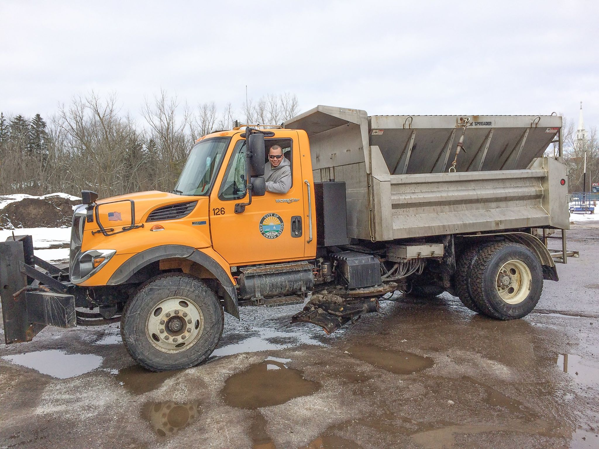 Salt Truck Snow Plow