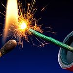 Match lighting firework