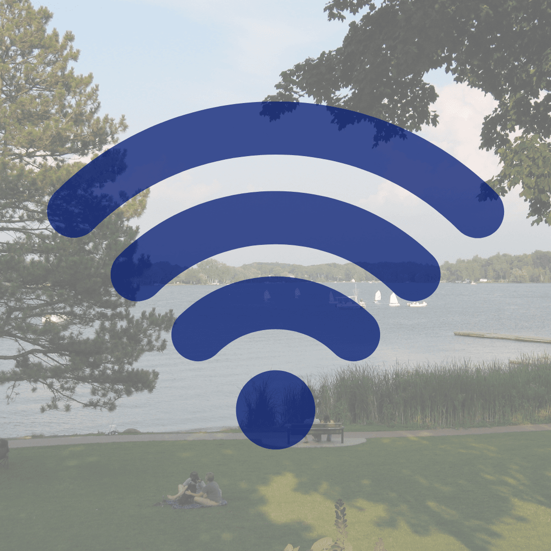 wifi signal transposed on John Collins Park